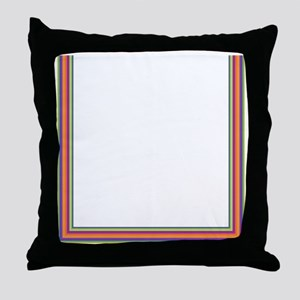 Stripes on white Throw Pillow