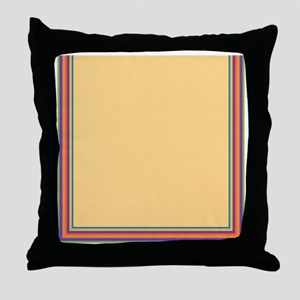Stripes on sand Throw Pillow