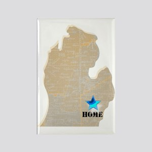 Michigan Is Home Rectangle Magnet