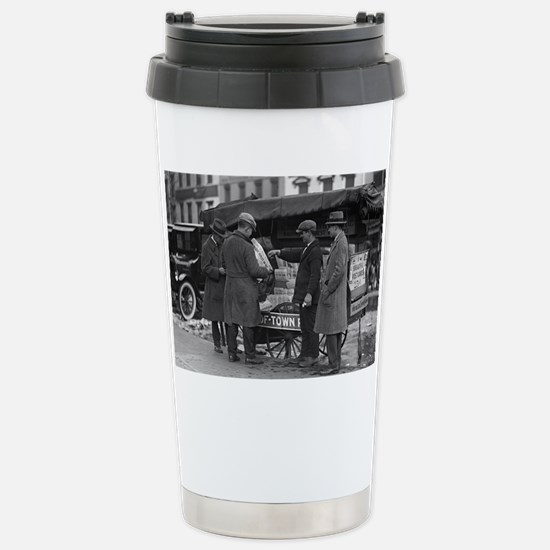 Reading The News Stainless Steel Travel Mug