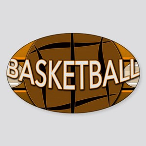 Basketball Sticker (Oval)