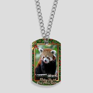 Red Panda Christmas Card Dog Tags