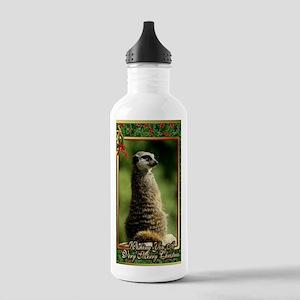Meerkat Christmas Card Stainless Water Bottle 1.0L