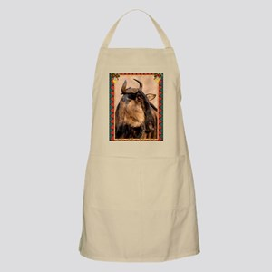 Wildebeest Christmas Card Apron