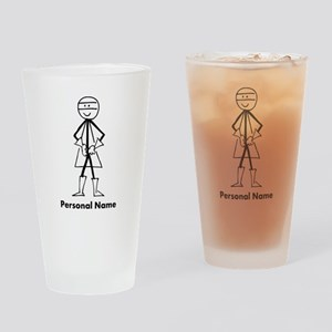 Personalized Super Stickman Drinking Glass