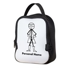 Personalized Super Stickman Neoprene Lunch Bag
