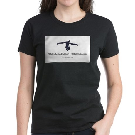 White-cheeked Gibbon Women's Dark T-Shirt