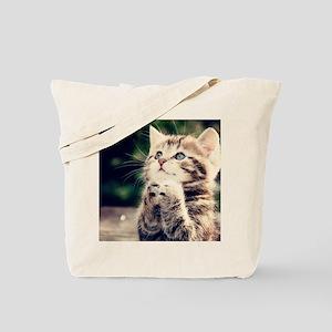 Cat Praying Tote Bag