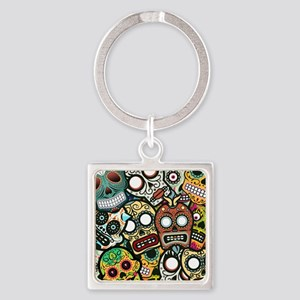Day of the Dead Square Keychain