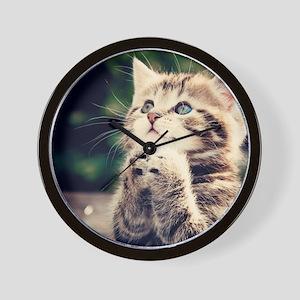 Cat Praying Wall Clock