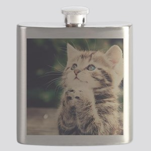 Cat Praying Flask