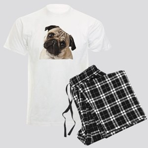 Pug Oil Painting Face Men's Light Pajamas