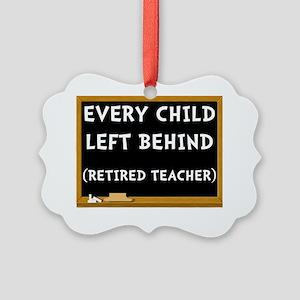 Retired Teacher Picture Ornament
