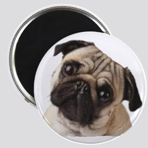 Pug Oil Painting Face Magnet