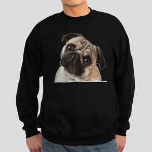 Pug Oil Painting Face Sweatshirt (dark)