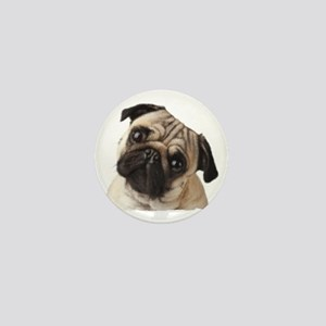Pug Oil Painting Face Mini Button
