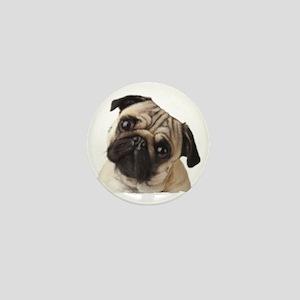 Pug Oil Painting Face Mini Button