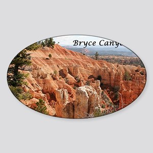 Bryce Canyon, Utah, USA 6 (caption) Sticker (Oval)