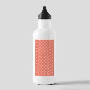 Coral Quatrefoil Patte Stainless Water Bottle 1.0L