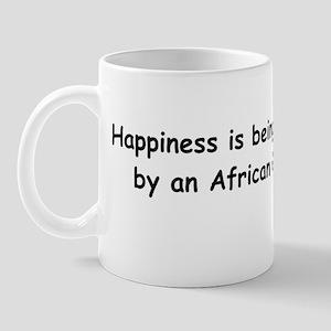 Happy African Grey Mug