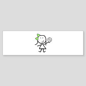 Girl & Volleyball Bumper Sticker
