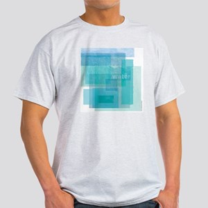 Water: Aqua Blue Abstract Light T-Shirt