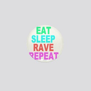 Eat Sleep Rave Repeat colorful Shirt Mini Button