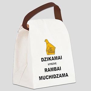 Keep Calm  Carry On (Shona Versio Canvas Lunch Bag