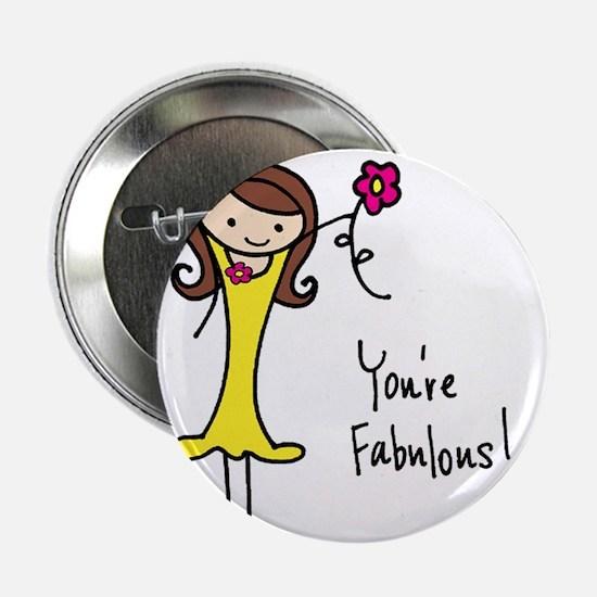 "Fabulous Flo 2.25"" Button"