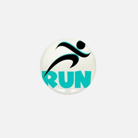 RUN Aqua Mini Button