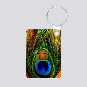 Peacock Aluminum Photo Keychain