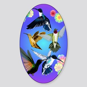 For The Love Of Hummingbirds Sticker (Oval)