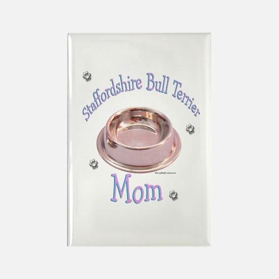 Staffy Mom Rectangle Magnet