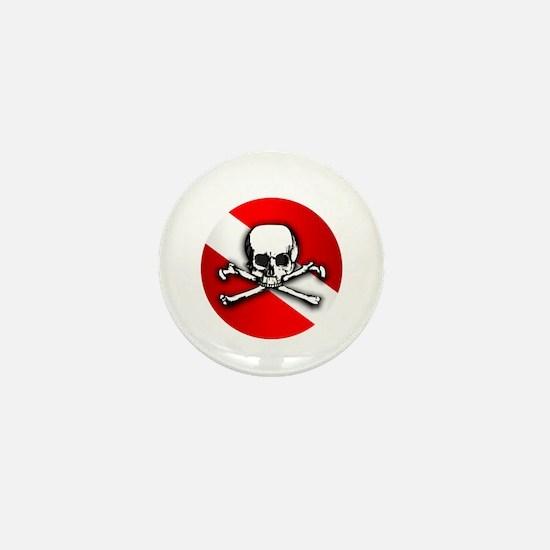 Wreck Diving (Skull) Mini Button