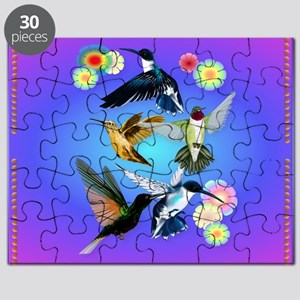 Throw Blanket For The Love Of Hummingbirds Puzzle