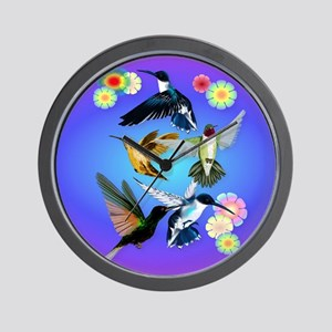 Throw Blanket For The Love Of Hummingbi Wall Clock