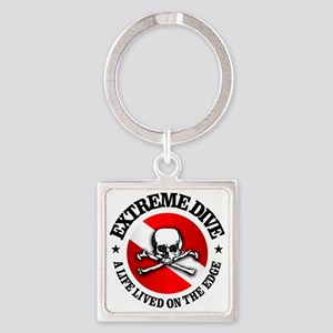 Extreme Dive (Skull) Square Keychain
