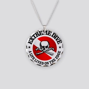 Extreme Dive (Skull) Necklace Circle Charm