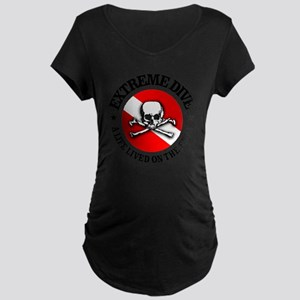 Extreme Dive (Skull) Maternity Dark T-Shirt