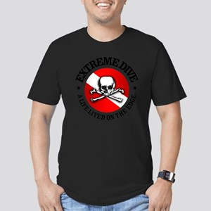 Extreme Dive (Skull) Men's Fitted T-Shirt (dark)