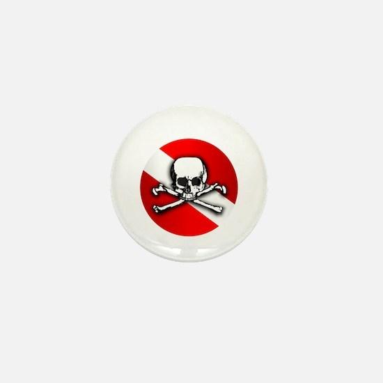 Extreme Dive (Skull) Mini Button