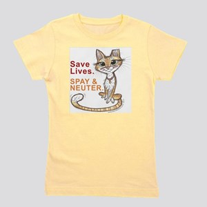 Save Lives Now Cat Girl's Tee
