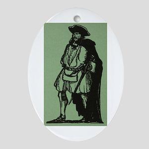 Blackbeard Oval Ornament