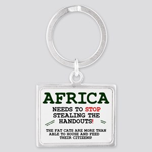 AFRICA - FEED YOURSELF! Z Landscape Keychain