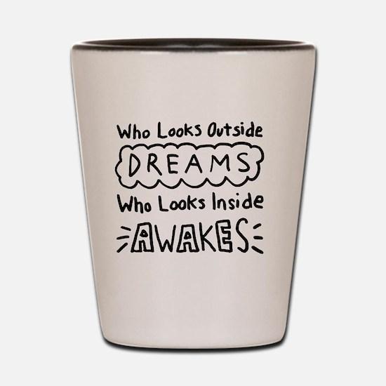 Who Looks Outside Dreams - Carl Jung Qu Shot Glass