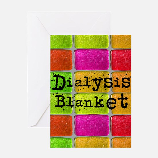 Dialysis pt blanket 2 Greeting Card