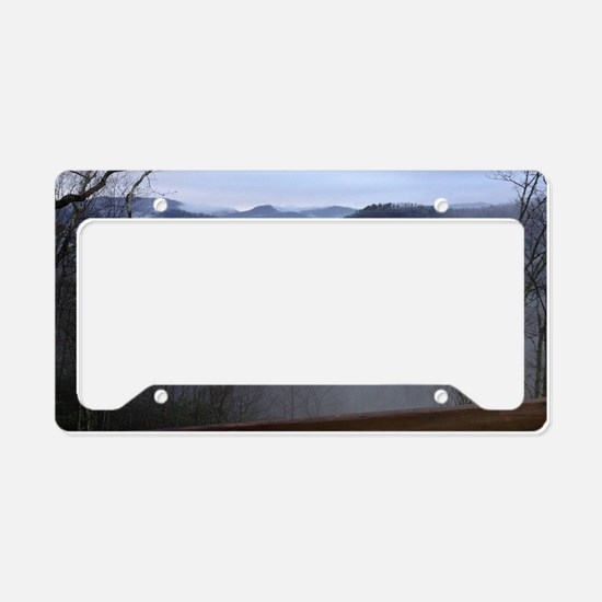 mountains, smokies, foggy mou License Plate Holder