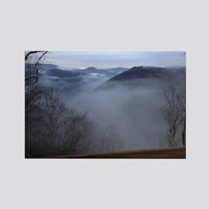 mountains, smokies, foggy mountai Rectangle Magnet