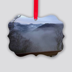mountains, smokies, foggy mountai Picture Ornament