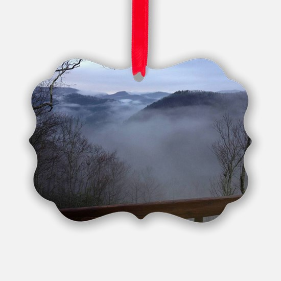mountains, smokies, foggy mountai Ornament